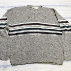 VTG BUGLE BOY Co. Striped Henley Style Sweater